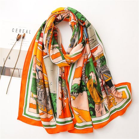new warm scarf women cotton and linen sunscreen gauze shawl NHGD270012's discount tags