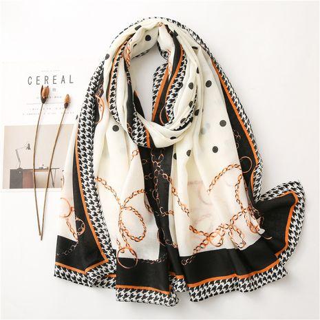 Nueva bufanda cálida con estampado de algodón y lino para mujer NHGD270014's discount tags