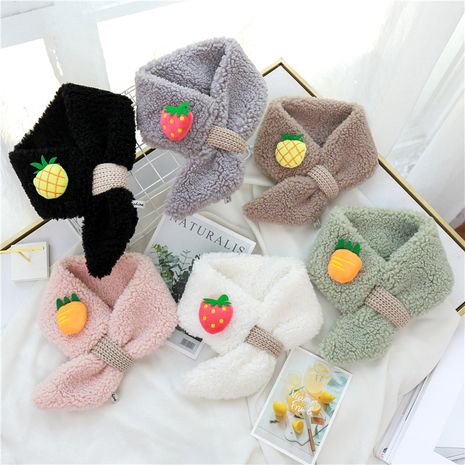 Korean fashion  women's lamb wool bib children's  scarf NHCM270024's discount tags