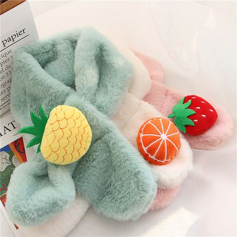 Children's imitation rabbit fur korean  scarf  NHCM270025's discount tags