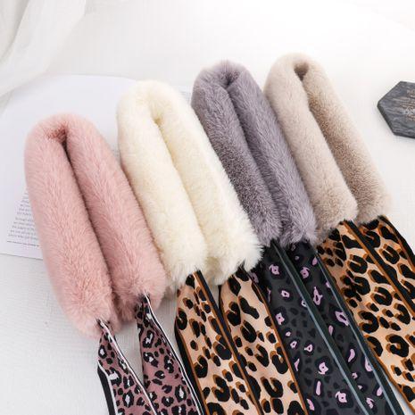 Nueva bufanda cálida coreana del cuello de piel de conejo de imitación de invierno de leopardo de peluche NHCM270031's discount tags