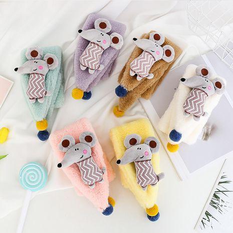 Foulard souris coréenne imitation fourrure de lapin pour enfants NHCM270032's discount tags