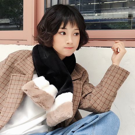 new plush otter fur Korean autumn and winter imitation rabbit fur collar thickened warm scarf NHCM270047's discount tags