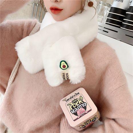 autumn and winter imitation rex rabbit fur Korean all-match soft avocado scarf   NHCM270056's discount tags