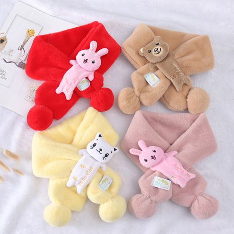 new children's cute imitation rabbit fur princess  fashion all-match scarf NHCM270093's discount tags