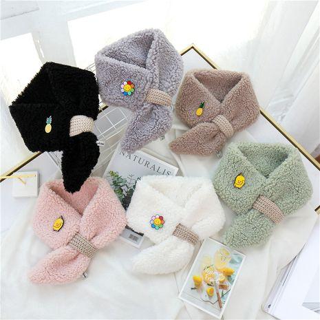 Adorable écharpe en laine à motif animalier NHCM270095's discount tags
