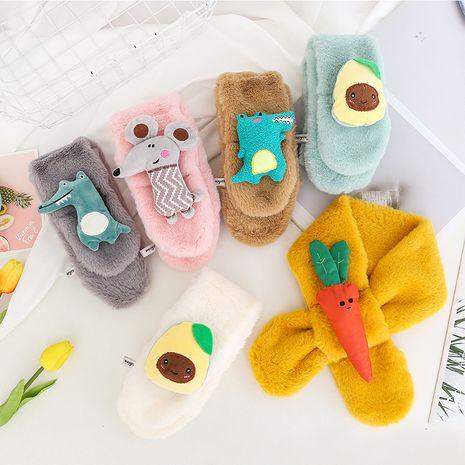new warm  cute little mouse imitation rabbit fur children's scarf  NHCM270096's discount tags