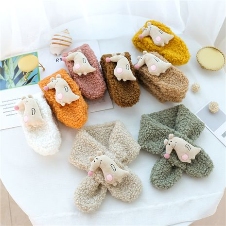 adorable écharpe triangle animal enfants garçons filles écharpe en laine NHCM270098's discount tags