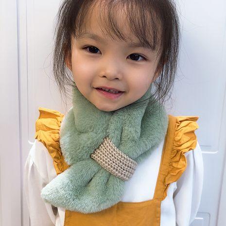 Adorable écharpe en laine chaude pour enfants biseautée NHCM270100's discount tags