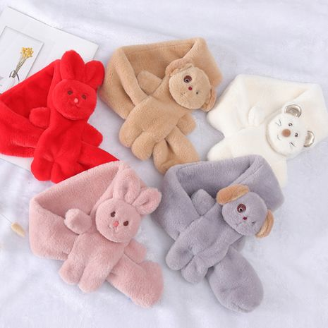 new korean cartoon thickened warm lazy rabbit plush children's scarf  NHCM270107's discount tags