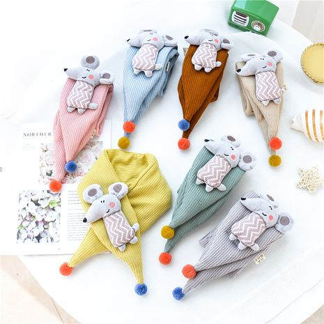 children's cute little mouse triangle scarf  NHCM270108's discount tags