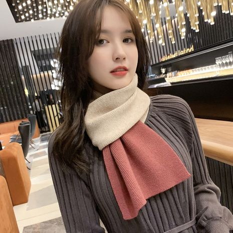korean double-sided thickened warm casual fashion long scarf NHMN270115's discount tags