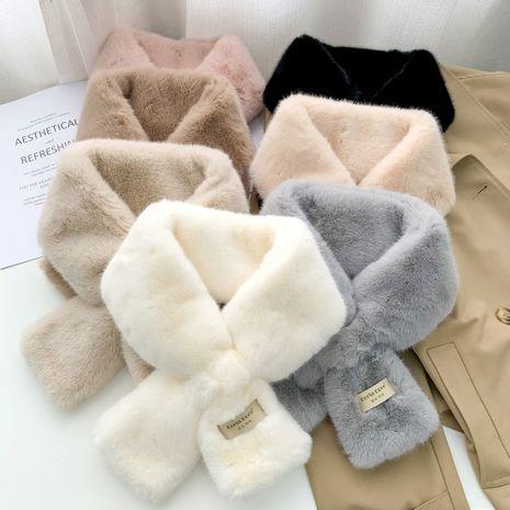 Bufanda cruzada cálida y de moda de estilo coreano NHMN270129's discount tags