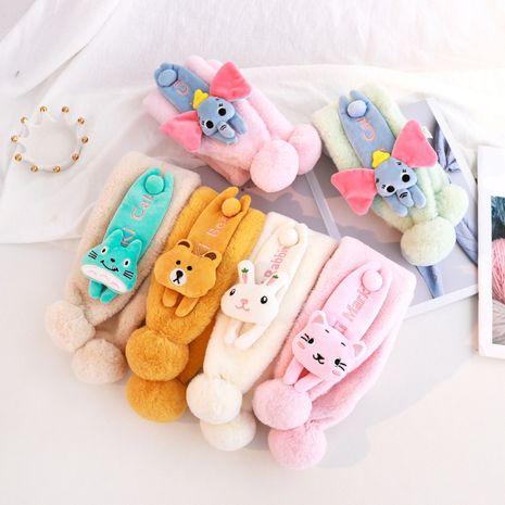 Plush children's cute fur balls kittens scarf NHCM270088's discount tags