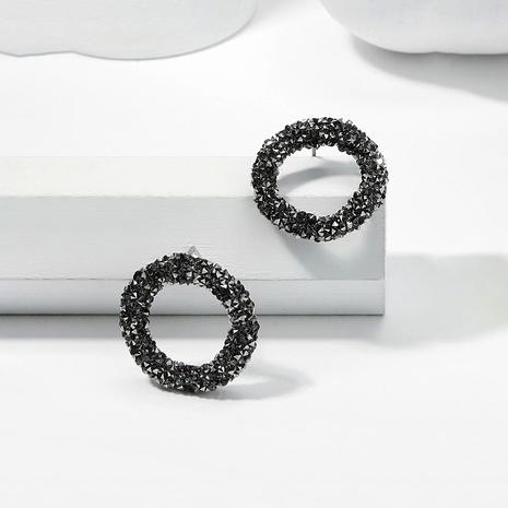 Boucles d'oreilles simples gris noir NHMD270184's discount tags