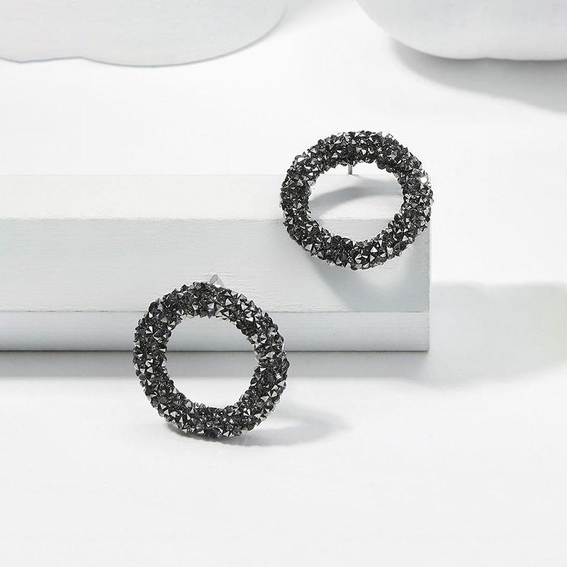 Black  gray simple earrings NHMD270184