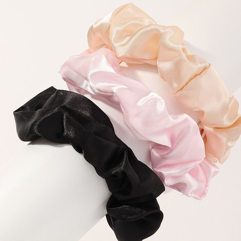 Korea's new fashion simple hair scrunchies set  NHNU270226
