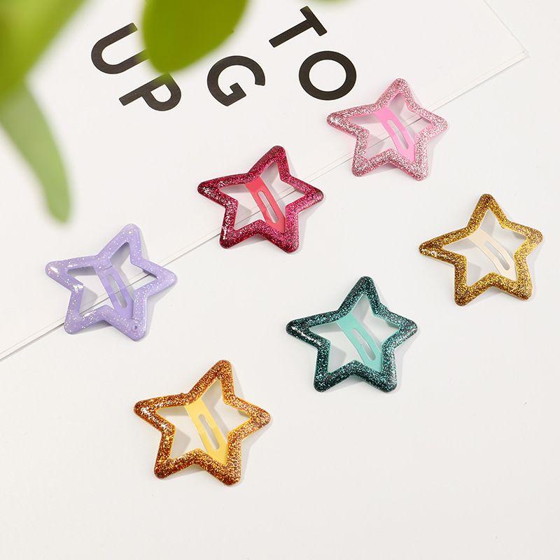 Korean  new star  simple  gold powder side clip  NHAU270237