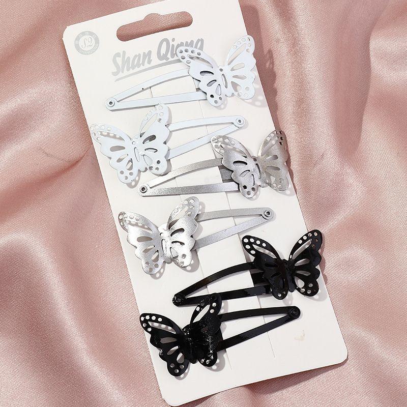 Korean retro BB clip black butterfly side clip  NHAU270238