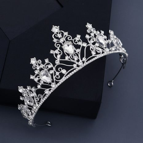 classic alloy hollow water drop  bride crown NHHS270292's discount tags