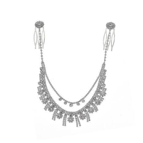bijoux de mariée luxe pompon strass paire peigne NHHS270295's discount tags