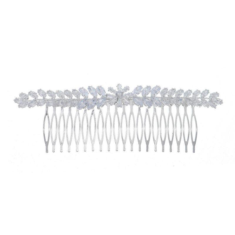 wedding headdress 20 teeth simple zircon  luxury rhinestone flower  hair comb insert comb NHHS270299
