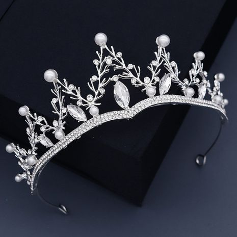 Baroque  alloy rhinestone pearl crown  NHHS270300's discount tags