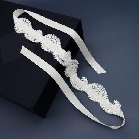 Accessoires de cheveux de mariée coréenne bandeau de fleur de dentelle de tissu NHHS270301's discount tags