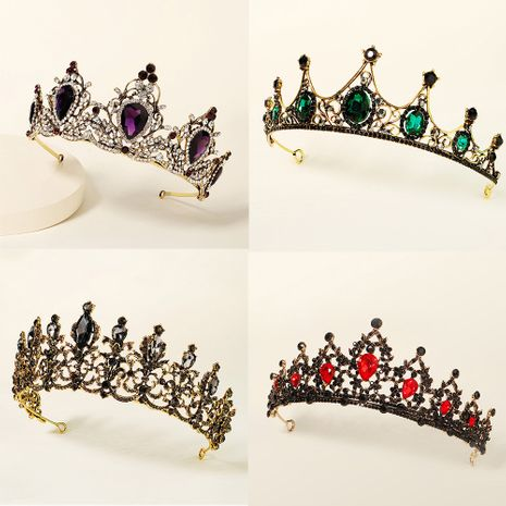 baroque  prom crown rhinestone pearl headband  NHHS270304's discount tags