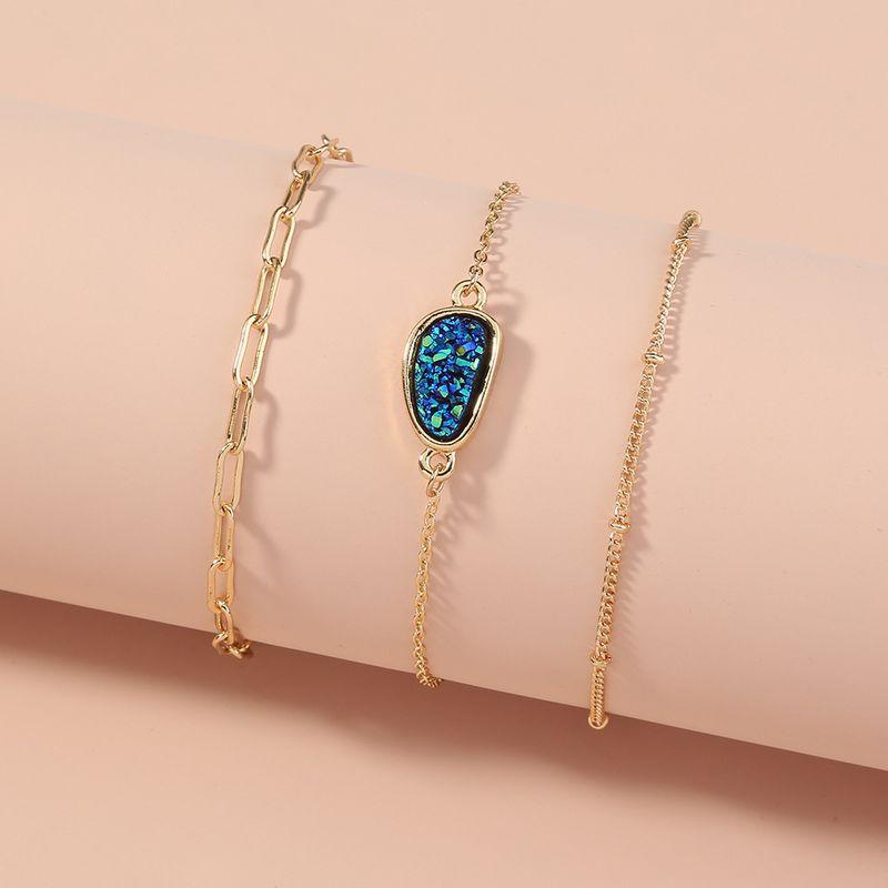 fashion simple  multilayer specialshaped crystal cluster bracelet NHAN270313