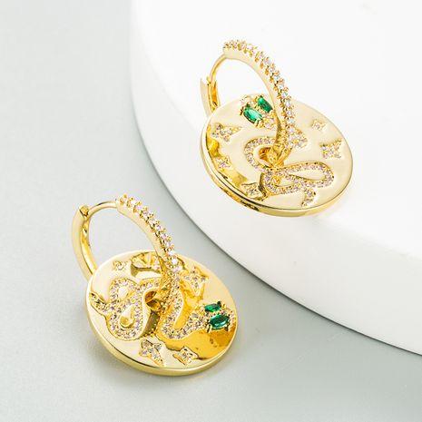 nouvelles boucles d'oreilles en relief en forme de serpent NHLN270347's discount tags