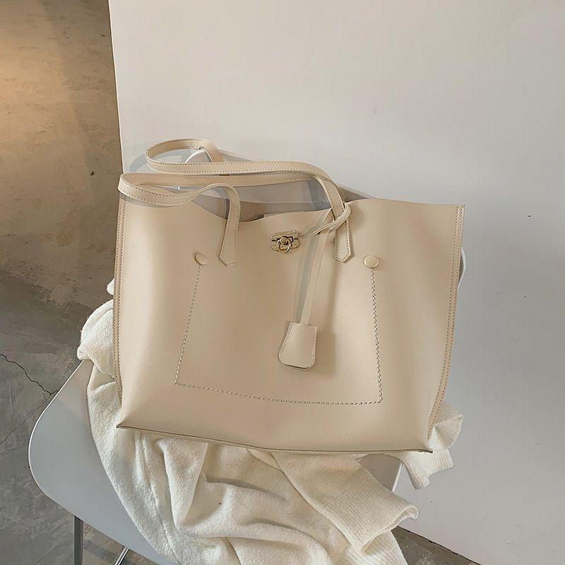 fashion tote bag large bag simple shoulder bag large capacity handbag NHJZ270364
