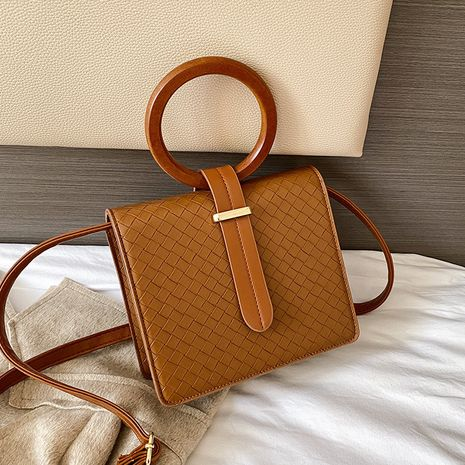 fashion  wooden new trendy simple woven shoulder bag  NHJZ270368's discount tags
