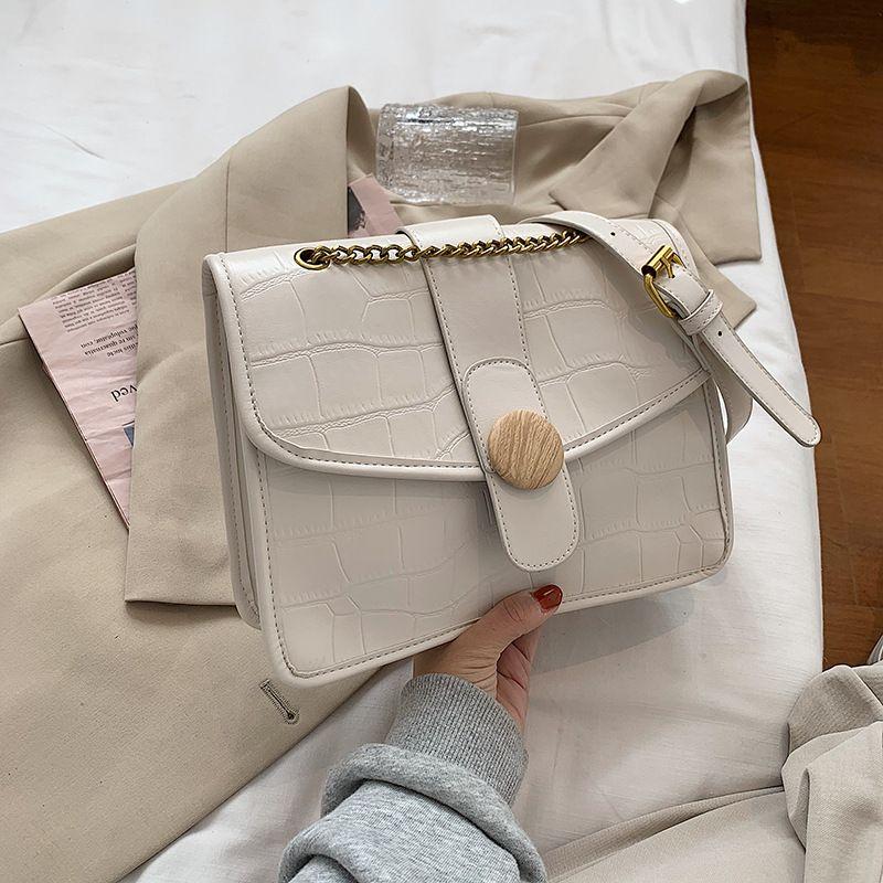 new trendy  retro simple chain small square bag  NHJZ270384