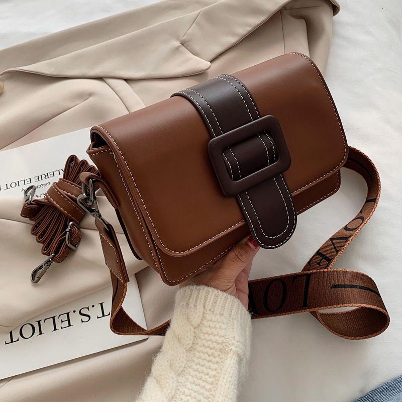 new trendy wild wide shoulder strap single shoulder messenger bag NHJZ270386