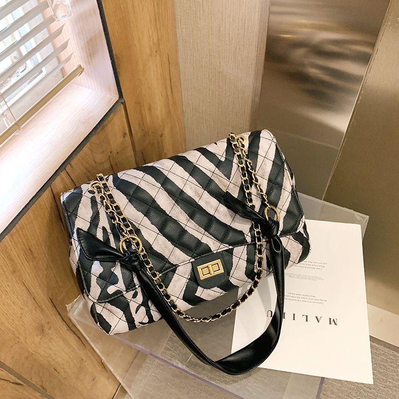 Black  white leopard print bag NHJZ270426