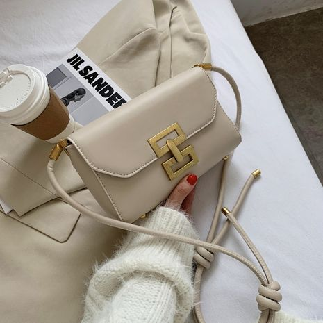 new fashion all-match  simple retro lock messenger small square bag NHJZ270436's discount tags