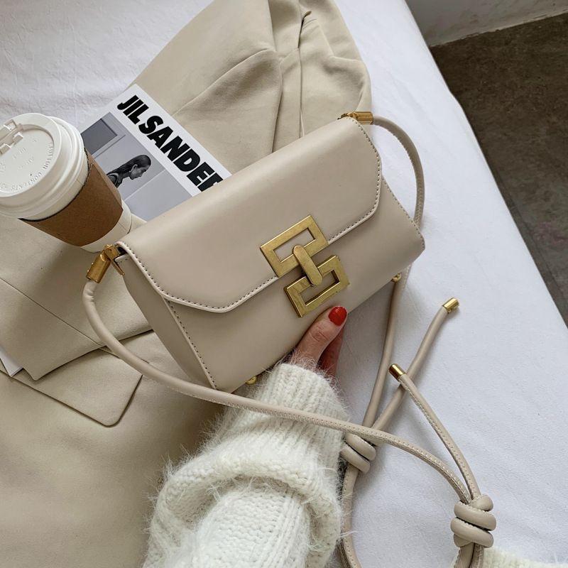 new fashion all-match  simple retro lock messenger small square bag NHJZ270436