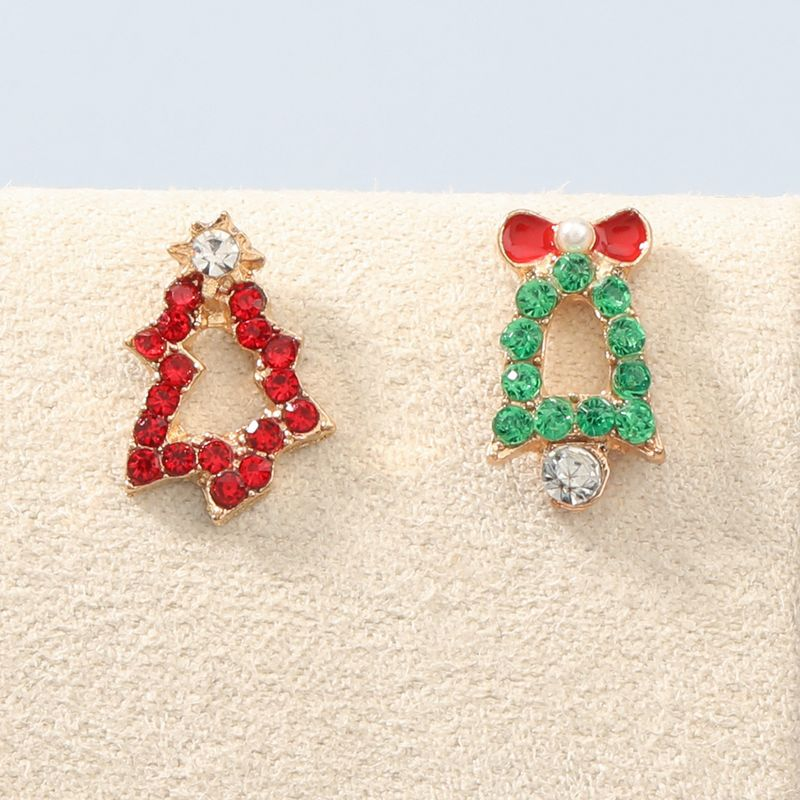 Christmas Series Acrylic Diamond Christmas Bell Earrings  NHJE270449