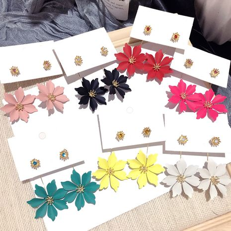 Korean  new  silver needle fashion petals exaggerated earrings NHFT270462's discount tags