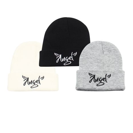 new korean fashion wild embroidery letter couple knitted hat  NHXO270320's discount tags