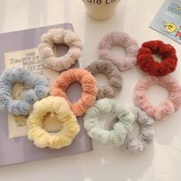 Sweet girl candy color imitation rabbit hair scrunchies  NHCQ270526