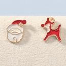Christmas series alloy Santa Claus Elk exquisite earrings NHJE270554
