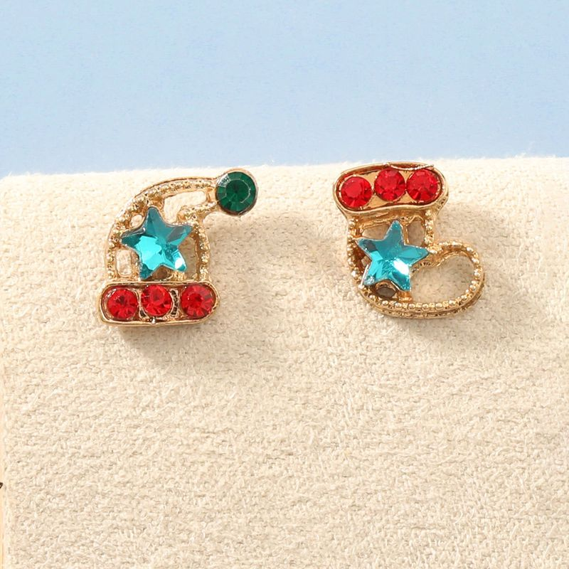Acrylic Diamondstudded Christmas Hat and Boot Cute Earrings NHJE270557