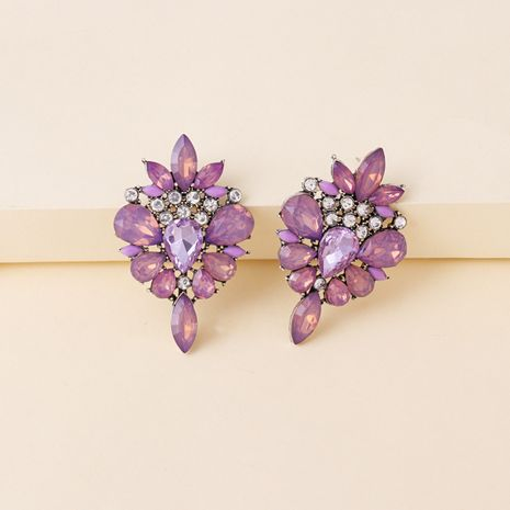 hot-selling alloy inlaid colored diamond retro exaggerated earrings  NHJJ270569's discount tags