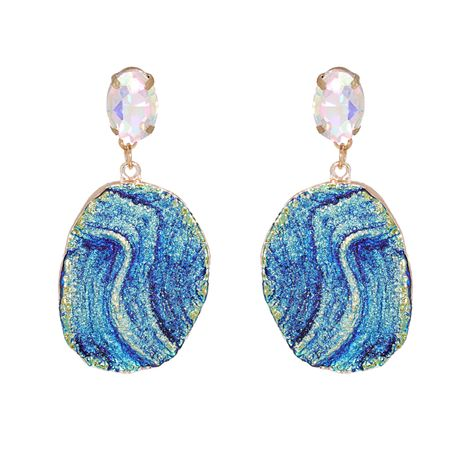 new blue retro trendy acrylic earrings NHJJ270577's discount tags
