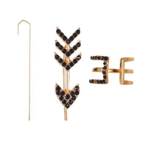 aretes de 3 piezas con flecha de diamante NHMO270603's discount tags