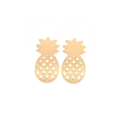 hot selling hollow pineapple fruit gold and silver earrings wholesale NHMO270635's discount tags