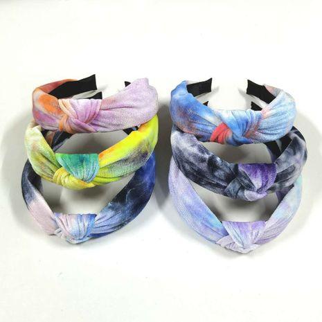 diadema con tótem tie-dye diadema de ala ancha anudada NHOF270650's discount tags