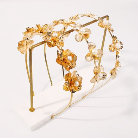 diadema de moda de perlas de hadas de flores NHMD270677's discount tags